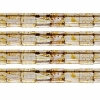 Miyuki Tila Beads 5X5mm 2 Hole Light Topaz with brown Picasso Transparent